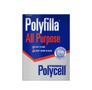 Polycell Polyfilla All Purpose Powdered Filler 1kg Bag -FAST DISPATCH FREE P&P