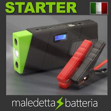 Avviatore di emergenza Auto Batteria Booster Starter Power Bank Portatile Verde