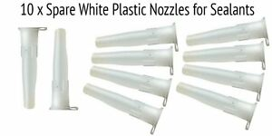 SPARE NOZZLE PLASTIC WHITE FOR SEALANTS 10 Pack