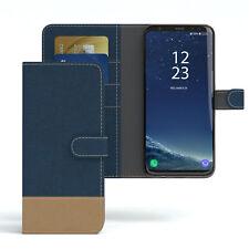 Tasche für Samsung Galaxy S8 Plus Jeans Cover Handy Schutz Hülle Dunkelblau