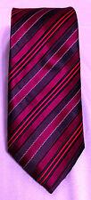 "Brooks Brothers Woven Burgundy Red Black Striped Silk Men's Tie Mens 60"" Necktie"