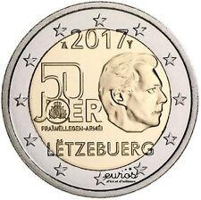 2 euros Luxembourg 2017 - 50ème anniversaire du volontariat dans l'armée - UNC