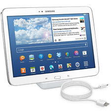Kwmobile docking station para Samsung Galaxy Tab 3 10.1, estación de carga Dock blanco