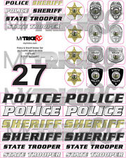RC Police/Sheriff Combo Sticker Set, MYK-ST3, RC Car Decal