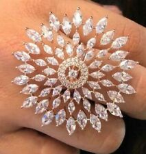 American Diamond White Indian Bollywood Adjustable Ring