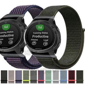 Nylon Quick Release Band Strap Bracelet For Garmin Fenix 3 HR 5/5X Plus/6/6X Pro