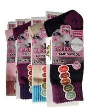 3 Pairs Of Ladies Merino Wool Socks, Outdoor Walking Work Boot Socks, UK 4-8