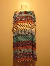 Glamorous off Shoulder Contrast Geo Printed Shift Dress Size 12 UK Multi