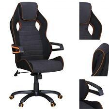 Chaise de bureau pivotante siège de direction Bold tissu- noir/gris