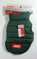 """New listing Coleman Reversible Dog Puffer Jacket Size Xs Hunter Green Chest 12"""" - 15"""" Nwt"""
