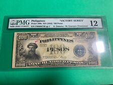 PHILIPPINES 1944 (ND) 100 PESO VICTORY SERIES 66 P-100b F00699749 PMG F 12