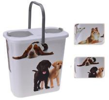 Plastic 10Lt Pet Dog Puppy Dry Food Storage Container Box Dispenser