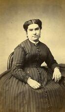 Woman Seated Paris Early Studio Photo Feyen Old CDV 1860