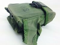 Battle Worn US Military 5.56 Magazine Ammo Clip Pouch Alice OD Green 7.62