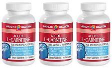 Sugar Burner Supplements - Acetyl L-Carnitine 500mg - Fatty Acids Pills 3B