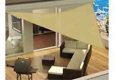 Tenda A Vela Da Esterno Parasole Con Funi Per ancoraggio 3,6x3,6x3,6 m Beige