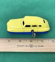 Vintage Plastic  MARX Wind-Up Car, Yellow & Blue
