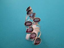925 Sterling Silver Ring With Amethyst In A Modern Setting UK Q, US 8 (rg2186)