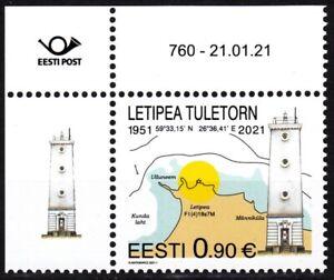 ESTONIA 2021-01 Lighthouse: Transport Architecture Map. CORNER, MNH