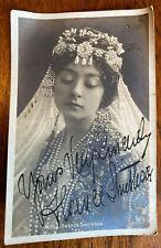 Very Rare Original Signed Postcard, Florence Smithson c1905 Edwardian Actress