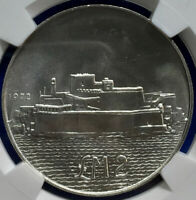 TOP POP NGC 1972 Malta 2 Silver Liri Fort St. Angelo Silver MS67 1 OF ONLY 3