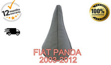 FIAT PANDA 2003-2012 GENUINE LEATHER GEAR GAITER COVER - GREY LEATHER