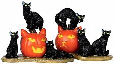 Lemax 12883 HALLOWEEN CATS Set of 2 Spooky Town Figurine Decor Figure Pumpkins I