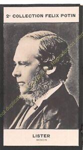 Chromo trade card Photo JOSEPH LISTER médecin circa 1907