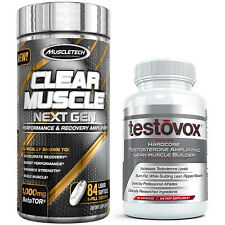 Clear Muscle + Testovox HARDCORE Supplement Stack: Build Size Strength Lean Mass