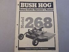 Bush Hog Model 268 Rotary Cutter Operators Manual LOTS MORE Listed