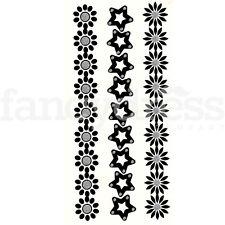 3 noir et argent tribal celtique Tatouage temporaire Body art nouveau robe de fantaisie (T3)