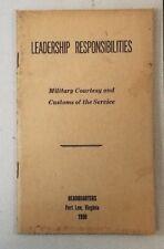 Korea Book Leadership Responsibilities Headquarters Fort Lee Virginia 1950 53A