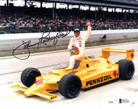 JOHNNY RUTHERFORD SIGNED AUTOGRAPHED 8x10 PHOTO INDY RACING LEGEND BECKETT BAS