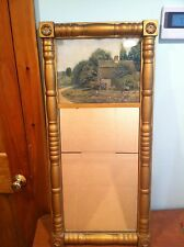 "LARGE 36"" Antique Split Column Mirror ""The Old Homestead"""
