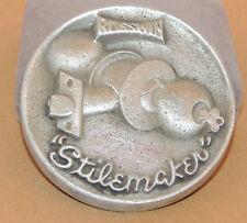 """Cast Aluminum Russwin Stilemaker Locks PaperWeight 3 1/4"""" (9882)"""