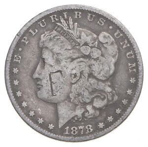 Early 1878-S Morgan Silver Dollar - 90% US Coin *179