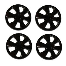 1000 Universal Wheel Cover ABS Wheel Skins Set Hub Caps Ice Black 16'' -Set of 4