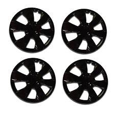 1000 Universal Wheel Cover ABS Wheel Skins Set Hub Caps Ice Black 16'' -Set of 4