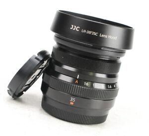 Fujifilm XF 35mm F2 R WR Fujinon Aspherical Fuji X Lens with Front & Rear Caps