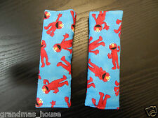 Child Seat Belt Strap Covers Car Highchair Pram Stroller - Dance Elmo - Blue