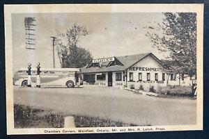 1941 Canada RPPC Postcard cover To Lincoln NB Chambers Corners Wainfleet