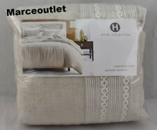 Hotel Collection Madison 100% Linen KING Duvet Cover Oatmeal