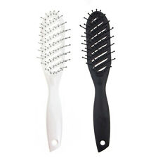 Thin Vented Curved Brush Anti Static Hair Combs for Women Natural Hair Dresssing