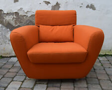 1 Fauteuils Ligne ROSET Didier Gomez Tichka orange laine Easy Lounge chair 90 S