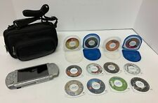 Sony PSP-2001 Silver Bundle With 10 Games And 2 Movies