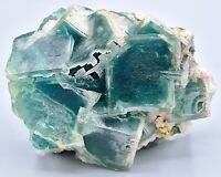 "HUGE PARTICLE ""Emerald Green"" PHANTOM FLUORITE Specimen (Tucson Mineral Show!)"