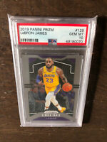 2019-20 Panini Prizm Base #129 LeBron James 1st Lakers Card PSA 10 GEM MINT