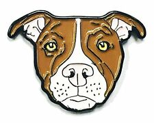 Brown White Pitbull American Bully Pit Bull Terrier Breed Dog Enamel Lapel Pin