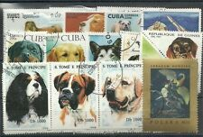 """Lot 50 timbres thematique """" chiens"""""""