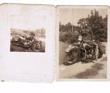2 SNAPSHOT PHOTO EARLY HARLEY DAVIDSON MOTORCYCLES 1920'S 2 BY 3